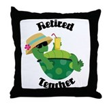 Retired Teacher Turtle Throw Pillow
