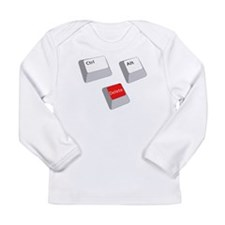 Control Alt Delete Long Sleeve Infant T-Shirt