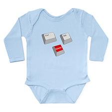 Control Alt Delete Long Sleeve Infant Bodysuit