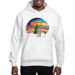 XMusic2-Havanese Pup Hooded Sweatshirt
