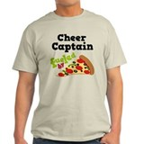Cheer Captain Funny Pizza T-Shirt