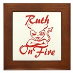 Ruth On Fire Framed Tile