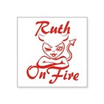 Ruth On Fire Square Sticker 3