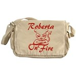 Roberta On Fire Messenger Bag