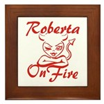 Roberta On Fire Framed Tile