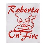 Roberta On Fire Throw Blanket