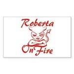 Roberta On Fire Sticker (Rectangle)