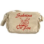 Sabrina On Fire Messenger Bag