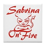 Sabrina On Fire Tile Coaster