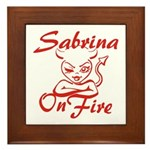 Sabrina On Fire Framed Tile