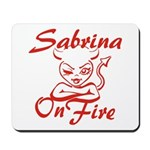 Sabrina On Fire Mousepad