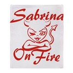 Sabrina On Fire Throw Blanket