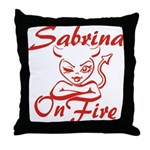 Sabrina On Fire Throw Pillow