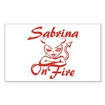 Sabrina On Fire Sticker (Rectangle)