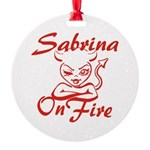 Sabrina On Fire Round Ornament