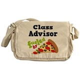 Class Advisor Funny Pizza Messenger Bag