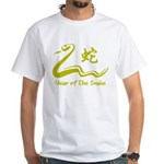 Chinese Year of The Earth Snake 1989 White T-Shirt