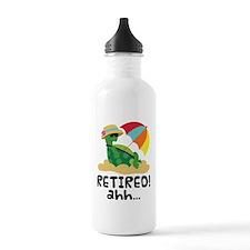 Retired Turtle Retirement Gift Water Bottle