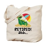 Retired Turtle Retirement Gift Tote Bag