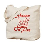 Sheena On Fire Tote Bag