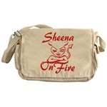 Sheena On Fire Messenger Bag