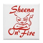Sheena On Fire Tile Coaster