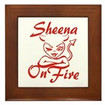 Sheena On Fire Framed Tile