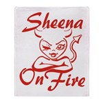 Sheena On Fire Throw Blanket