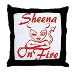 Sheena On Fire Throw Pillow