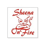 Sheena On Fire Square Sticker 3