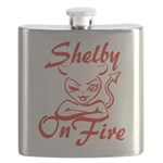 Shelby On Fire Flask