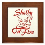 Shelby On Fire Framed Tile