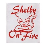 Shelby On Fire Throw Blanket