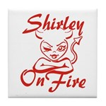 Shirley On Fire Tile Coaster