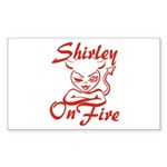 Shirley On Fire Sticker (Rectangle)