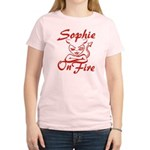 Sophie On Fire Women's Light T-Shirt