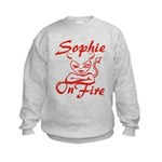 Sophie On Fire Kids Sweatshirt