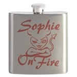 Sophie On Fire Flask
