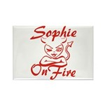 Sophie On Fire Rectangle Magnet