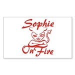 Sophie On Fire Sticker (Rectangle)