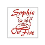 Sophie On Fire Square Sticker 3