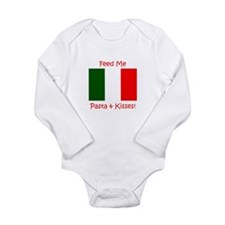 Cute Funny italian baby Long Sleeve Infant Bodysuit