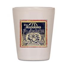 Vintage Ouija Mystery planchette Ad Shot Glass