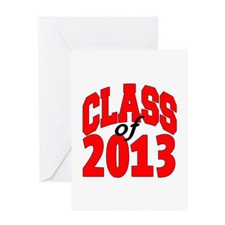 Class of 2013 (red) Greeting Card