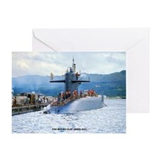 USS HENRY CLAY Greeting Card