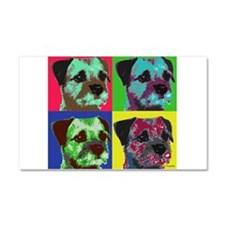 Pop Art Border Terrier Car Magnet 20 x 12