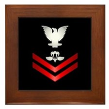 Navy PO2 Aircrew Survival Equipmentman Framed Tile