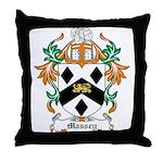 Massey Coat of Arms Throw Pillow