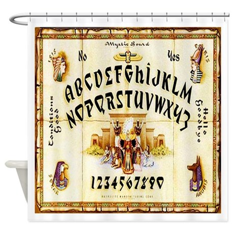 Vintage egyptian ouija board shower curtain by mansionmarket for Egyptian bathroom designs