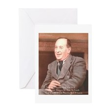 CS Lewis Aim At Heaven Quote Gifts Greeting Card